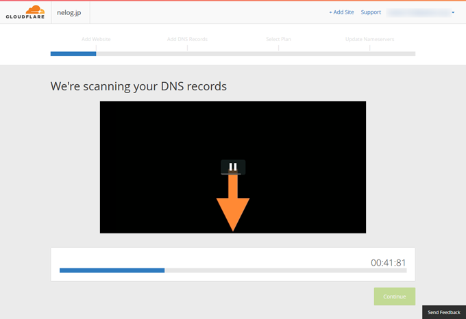 We're scanning your DNS records  Cloudflare - Web Performance & Security