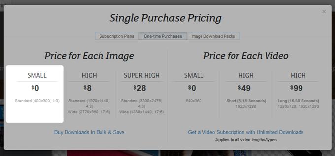 無料で利用するには400×300の解像度の写真しか使えない
