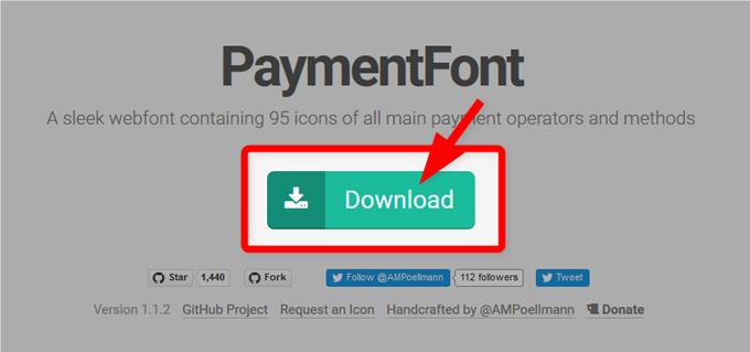 PaymentFontからファイルをダウンロード