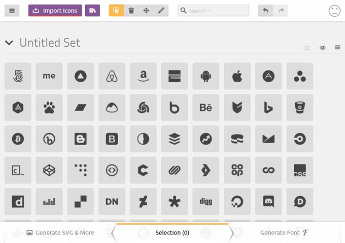 Simple IconsのSVGファイルを取り込み完了