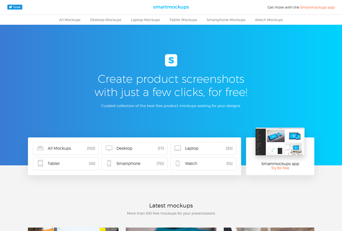 Smartmockups - Create product screenshots with just a few clicks, for free!