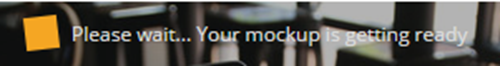Smartmockupsの画像生成中メッセージ