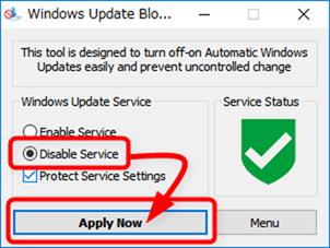 Windowsアップデートサービスを無効にする