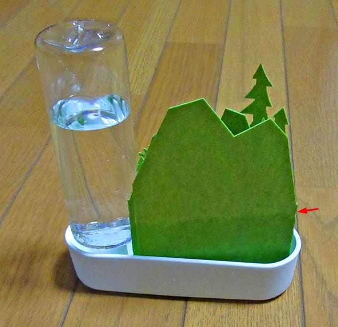 エルクグリーン加湿器に水を入れると加湿シートが水を吸う