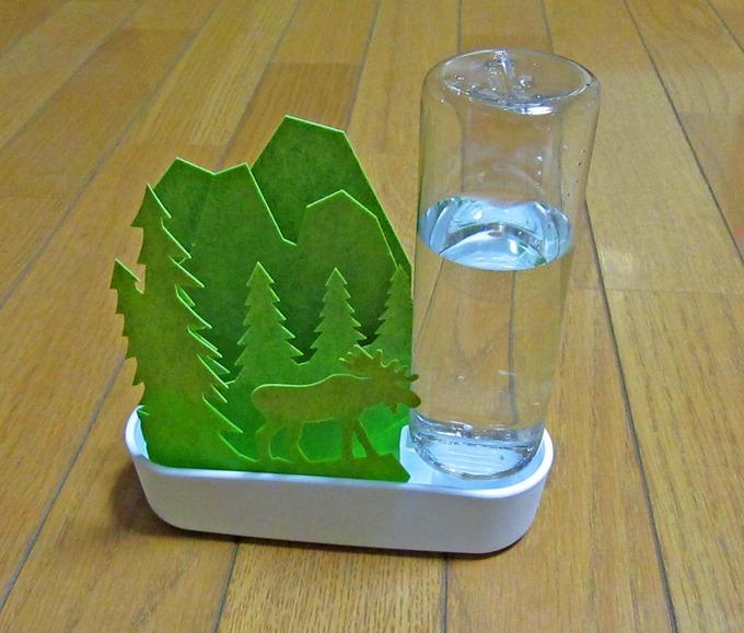 エルクグリーン加湿器に水を入れた状態