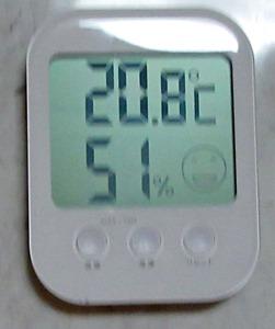 部屋の湿度の変化