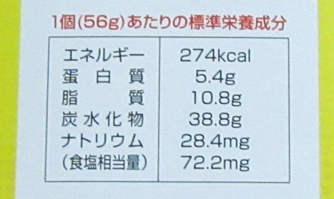 ER91個あたりの栄養成分