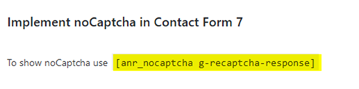Implement noCaptcha in Contact Form 7
