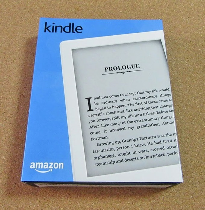 Kindle端末のパッケージ正面
