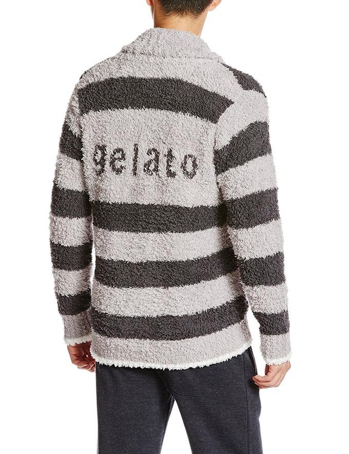 (ジェラート ピケ)gelato pique 【Homme】サガラ2BDショールカーディガン(背面)