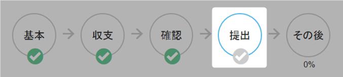 提出画面で申告書を印刷する(白色申告)