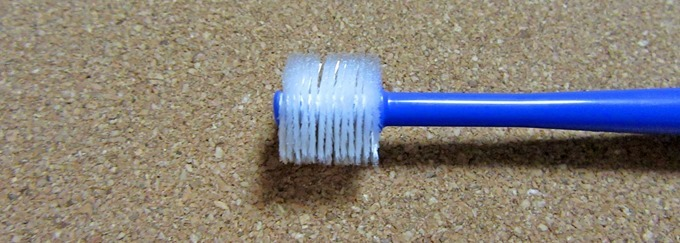 360度歯ブラシの毛先を横から見た状態