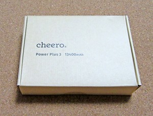 cheero Power Plus3のパッケージ