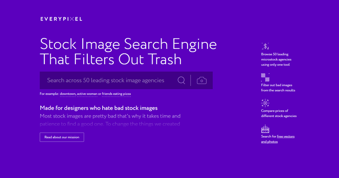 Stock Image Search Engine - Search 50 Image Sources with Everypixel