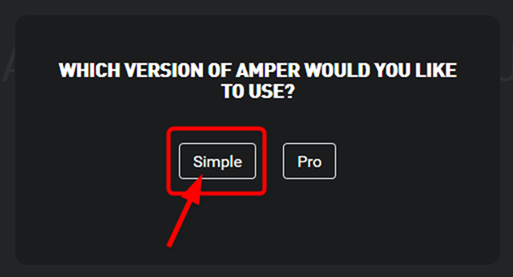 Which version of Amper would you like to use