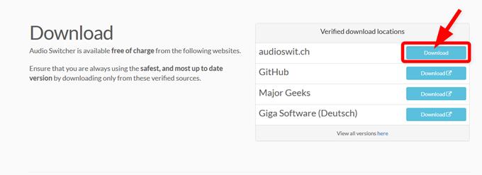 Audio Switcherからファイルのダウンロード