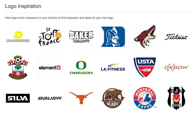 Logomakでの業種がスポーツの時の参考ロゴ提案