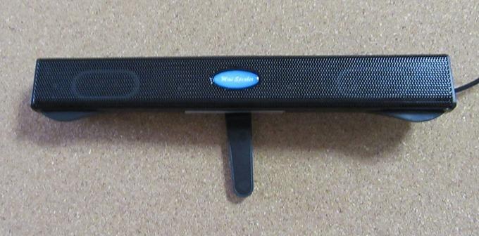 サウンドバースピーカー背面の突っ張り棒