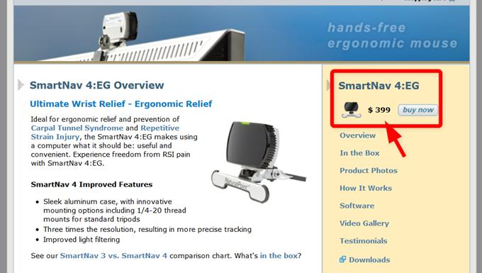 NaturalPointのSmartNav4EGの販売価格