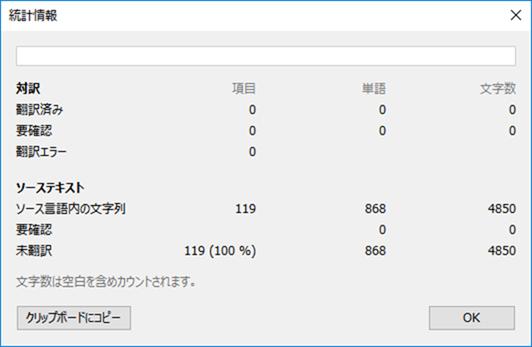 まだ全く翻訳されていない統計情報