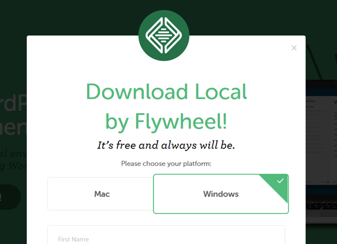 Local by Flywheelサイトで使用OSを選択する