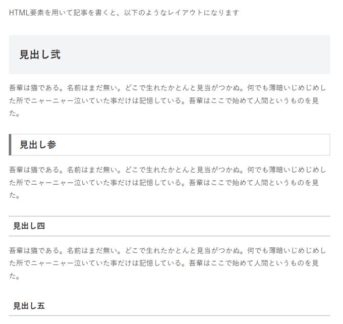 Wordpress公開ページの表示スタイル