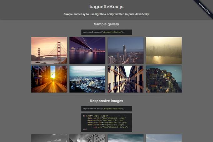 baguetteBox.js Demo