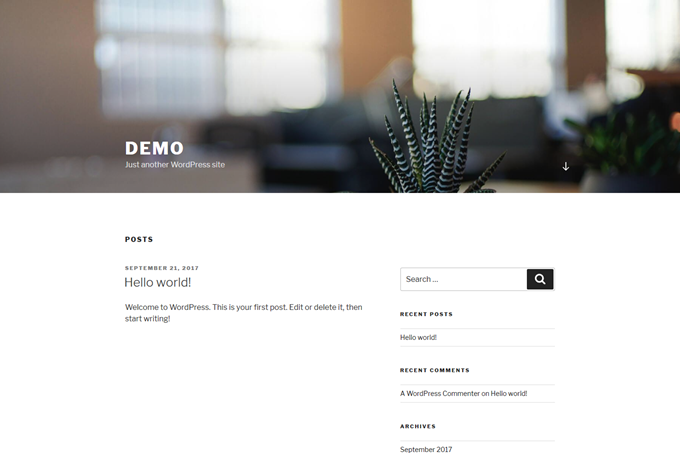 demo – Just another WordPress site