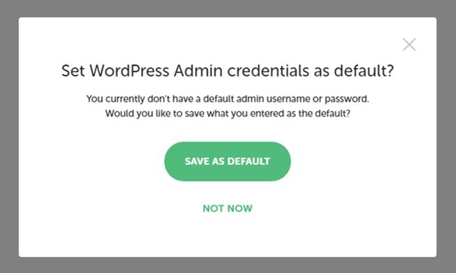 入力したユーザー名とパスワードを今後もデフォルトとして利用するか