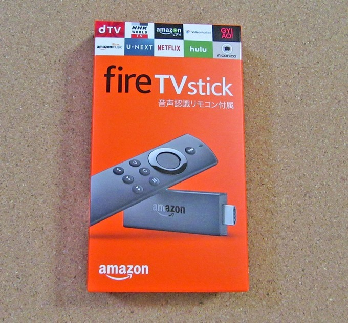 Fire TV Stickのパッケージ