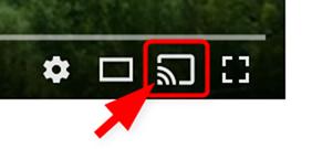 YouTube動画のキャストボタン(拡大)
