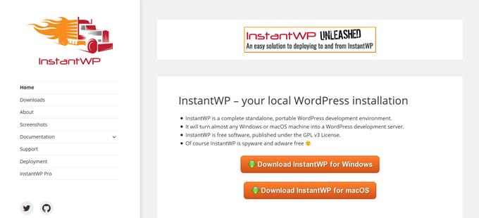 InstantWPサイト