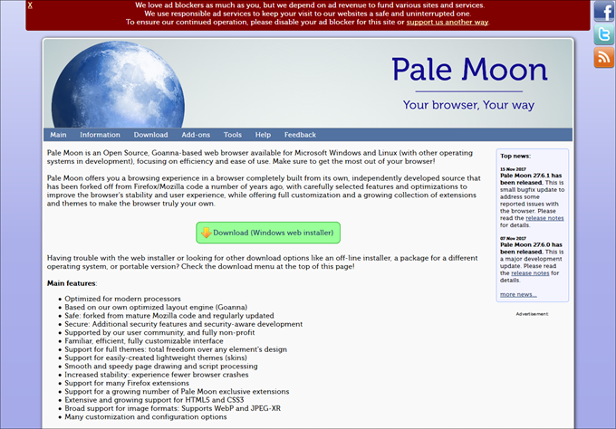 The Pale Moon Project homepage