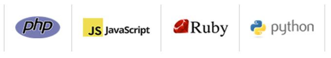 edumpで利用可能な言語