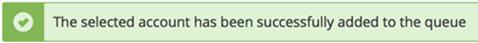 データベースバックアップの作業登録完了