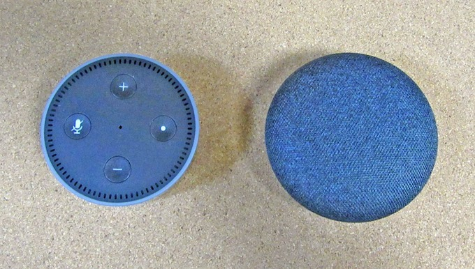 Amazon Echo DotとGoogle Home Mini
