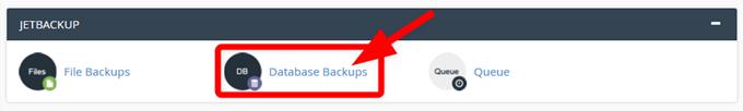 JETBACKUPでデータベースの復元