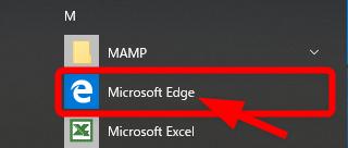 Microsoft Edgeの起動