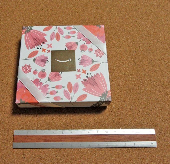 フラワーデザインボックスの大きさを物差しで計測