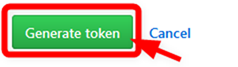 GitHubトークン作成ボタンを押す