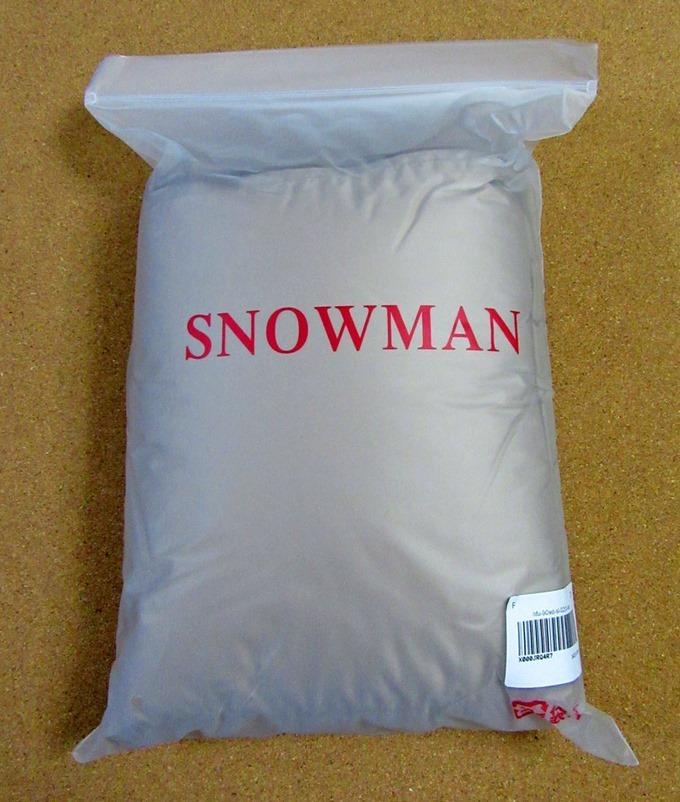 スノーマンのダウンケットが届いた時の状態
