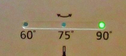 首振りモード90度