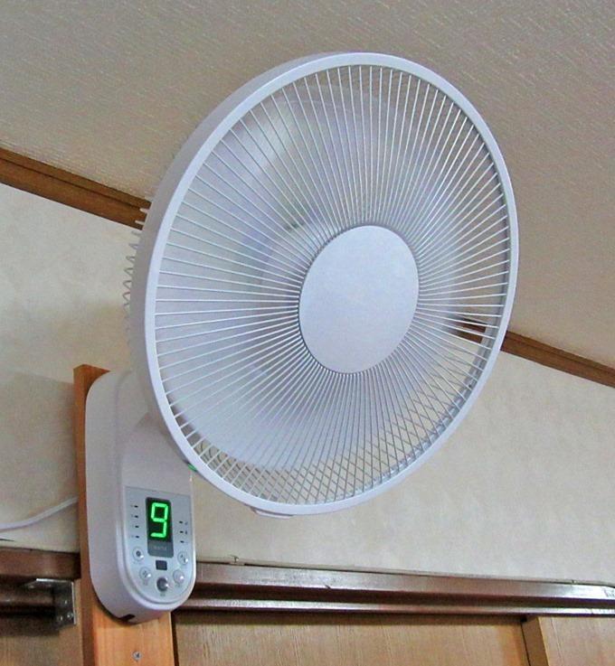 boltz扇風機は風量表示パネルが見やすい