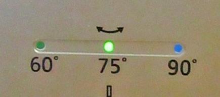 首振りモード75度