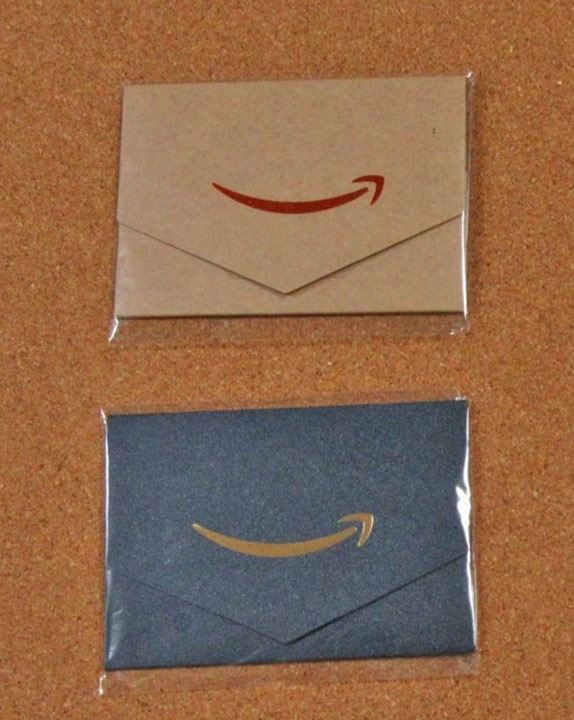 Amazonギフト券(封筒タイプ)ミニサイズが届いた状態