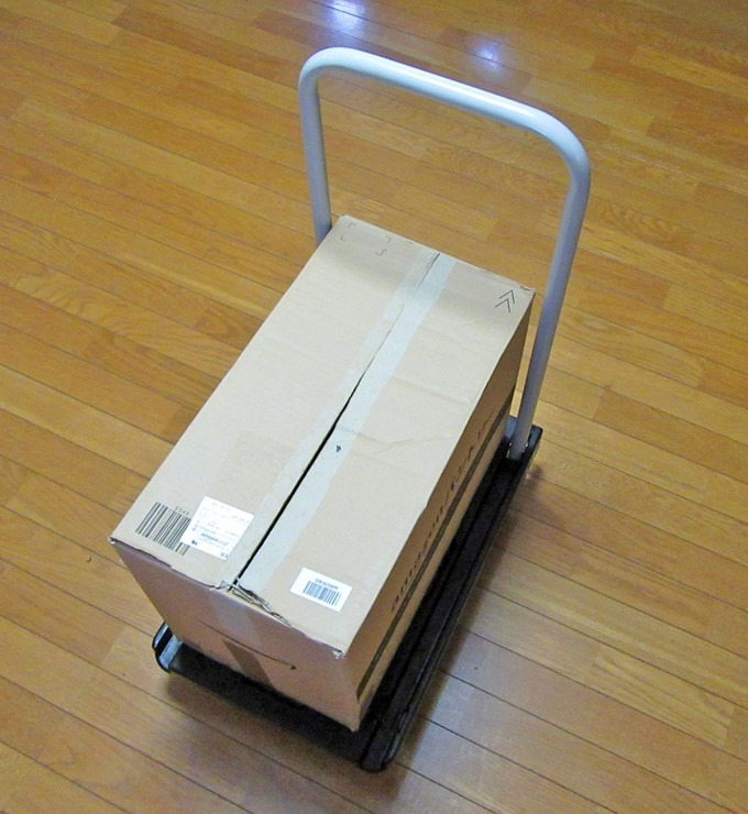 Amazonの大きめの箱でも余裕で乗る