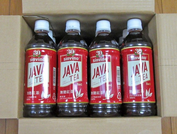 ジャワティー1ケースには500mlペットボトルが24本入っている