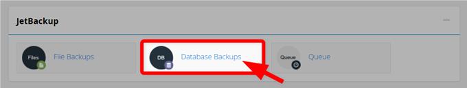 JetBuckup項目からデータベースバックアップを復元