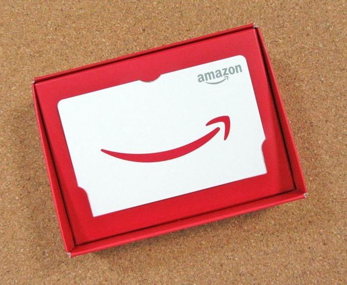 Amazonギフト券レッドタイプの統一感のあるデザインカード