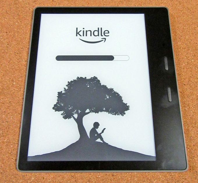 Kindle Oasisの再起動中